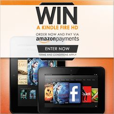 Enter our prize draw to win a Kindle Fire HD when you make a purchase through Find Me A Gift using Amazon Payments. One winner will be selected from all Amazon Payments from 25th July 2013 - 31st August 2013.