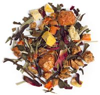 David's Tea Indian Summer (Apple, white Bai Mu Dan, carrot, lemongrass, hibiscus, blackberry leaves, acerola cherries, fig, pumpkin, watermelon, peony petals)