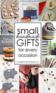 Small handmade gifts for all occasions! Easy and meaningful, I'm definitely … Small handmade gifts for all occasions! Easy and meaningful, I'm definitely making a few of these instead of buying junk this year! Diy Holiday Gifts, Easy Diy Gifts, Handmade Christmas Gifts, Creative Gifts, Christmas Diy, Diy Gifts Small, Last Minute Christmas Gifts Diy, Homemade Gifts For Christmas, Homemade Gifts For Men