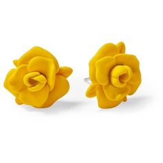 Marc by Marc Jacobs Rubberized Jerrie Rose Stud ❤ liked on Polyvore featuring jewelry, earrings, accessories, yellow, yellow jacket, rose gold tone earrings, rubber earrings, yellow earrings, marc by marc jacobs and diamond earrings