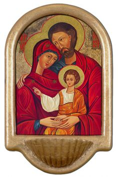 Holy Family Icon Holy Water Font Click picture to see on #catholictothemax