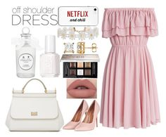 """OffShoulderDress♡"" by annadeiman ❤ liked on Polyvore featuring Chicwish, Topshop, Dolce&Gabbana, Humble Chic, Essie and Givenchy"