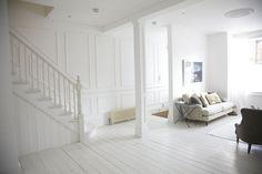 Witte Grenen Vloer : Parket wit schilderen