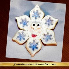 HANDMADE SNOWFLAKE PINS - FLAKES     $8.00    These snowflake pins are entirely handmade of polymer clay and since they are entirely handmade, no two are exactly alike.      Each snowflake has a cute funny face with Swarovski crystal eyes and the tongue sticking out of its mouth.  It has snowflakes impressed into the tip of each point of the snowflake.  There is an attached metal pin clasp on the back.  Each pin is approximately 2 ½ inches in diameter.     Order at…