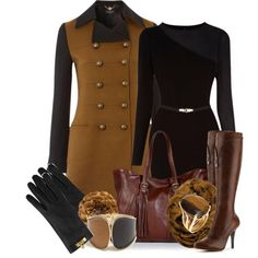 Military coat with black dress. - Yes! Yes! Yes!