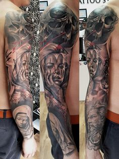 sleeve tattoo by Radu Klein
