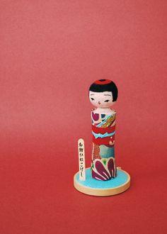 Japanese Kokeshi Dolls by Hine Mizushima