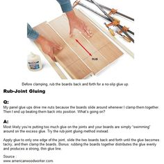 Rub-Joint Gluing | WoodworkerZ.com