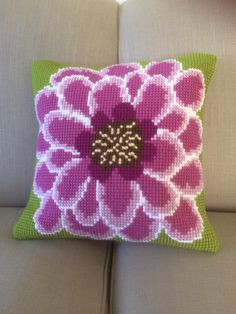 Twilleys - In Full Bloom - Cross Stitch Cushion Front Kit (large count): Amazon.co.uk: Kitchen & Home Cross Stitch Cushion, Cushions To Make, Needlepoint Pillows, Cross Stitch Flowers, Friends In Love, Free Delivery, Count, Bloom, Tapestry
