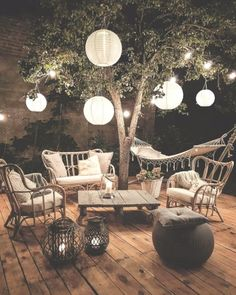 Entertaining under the stars Cozy boho outdoor spaces Boho backyard Boho H Outdoor Spaces, Outdoor Living, Beach House Decor, Home Decor, Small Patio, Interior Exterior, Interior Design, Bohemian Decor, Bohemian Garden Ideas