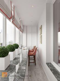 Фото: Лоджия - Интерьер квартиры в классическом стиле в ЖК «Времена года», 61 кв.м.