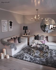 ↗️ 78 Models Very Snug and Practical Decoration Ideas for Small Living Room 6034 smalllivingroo&; ↗️ 78 Models Very Snug and Practical Decoration Ideas for Small Living Room 6034 smalllivingroo&; Glam Living Room, Living Room Decor Cozy, Beautiful Living Rooms, Living Room Interior, Bedroom Decor, Living Area, Beautiful Homes, Cozy Bedroom, Bedroom Wall
