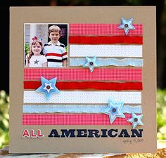 All American - Scrapbook Layout -