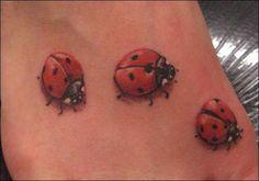 18 Little ladybug Tattoo Designs