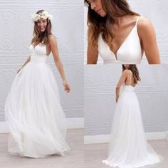 2017 Beach Wedding Dresses Spaghetti Straps Pure White Ruched Tulle 2016 Wedding Dresses Simple Style Fairy Bridal Gowns