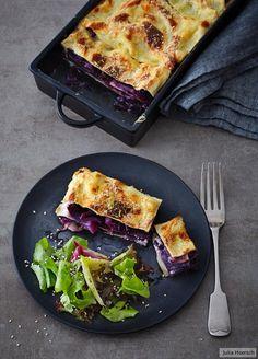 Rotkohl-Lasagne