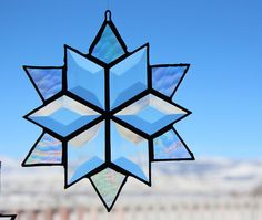 Snow Flake Stained Glass Snow Flake by StainedGlassSundays on Etsy