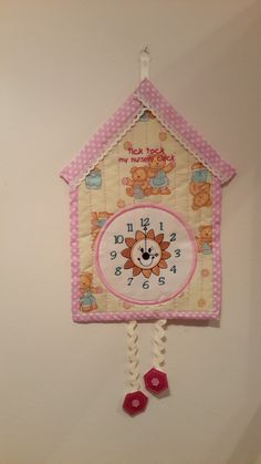 Made by Susanne Sketchley - My latest project was a cuckoo clock that I found in a magazine and adapted to my own style. It was made from a fat quarter bundle, wadding and a little felt. I hope you like it.
