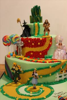 Wizard of Oz cake for Abby's birthday. Hoosier Mama Catering!