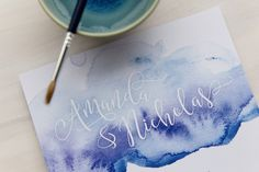 Watercolour Invitation by The Print Fairy