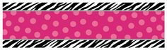 Get your party started right with our wild and fancy Zebra Party Customizable Giant Banner.  Giant banner kit features black and white zebra stripes at the top and bottom with hot pink polka dots running down the center.  Sticker sheets with 120 adhesive letters and numbers are ready for you to create your own custom message for guests to read as soon as they arrive.  Giant plastic banner measures 65� long by 20� wide and comes folded.Banner comes with 120 adhesive letters, numbers and…