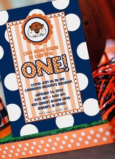 Auburn Invitation  Cheerleading Invitation  by AmandasPartiesToGo, $14.00