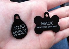 We Moved, So I Had To Get The Dog And Cat New Name Tags