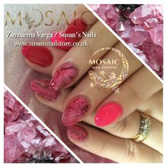 Stone effect Salon Nails, How To Do Nails, Salons, Mosaic, Lipstick, Beauty, Beautiful, Living Rooms