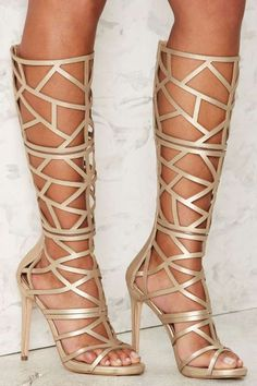 Nasty Gal Devil May Care Cutout Heel