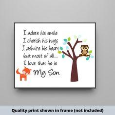 My Son Woodland nursery sign. farmhouse style sign   #boysroom #girlsroom #nurserydecor #nurseryideas #customnamesign #babygirlnursery #babyboynursery #kidsroom #childsroom #newbaby #babydecor #boydecor #girldecor Cute Wall Decor, Baby Decor, Kids Decor, Nursery Signs, Nursery Themes, Painted Wood Signs, Hand Painted, Wooden Signs, Do It Yourself Decorating