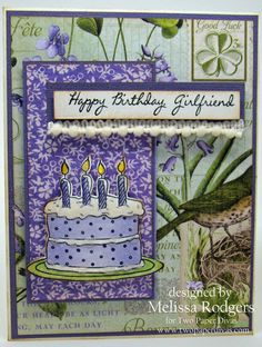 Click to purchase this stamp; http://www.twopaperdivas.com/product/birthday-wishes-3/ $21.95 April 2015 New Stamp Release - Day 2 - Two Paper Divas