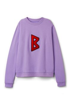 Weekday Uni Sweatshirt Lilac in Purple Bluish