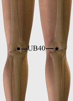 UB 40 akupresszúrás pont