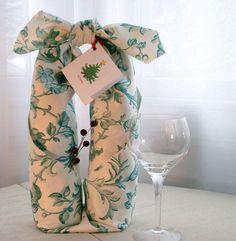 How To Handmade Furoshiki Gift Wrap for wine bottle