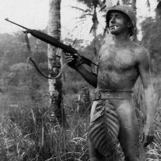 U.S. Marine somewhere in the Pacific islands, WWII