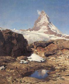 """""""Matterhorn"""" - © Eugen Felix Prosper Bracht"""