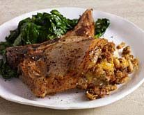 Apple-Stuffed Pork Chops -- who would have thought you would find this kind of recipe on an appliance website www.geappliances.com