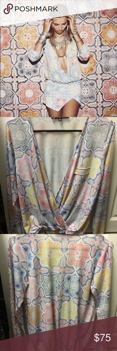 For Love and Lemons Ole tile print top Hate to see this super cute top go. Cleaning out my closet. Authentic. For Love and Lemons Tops Blouses
