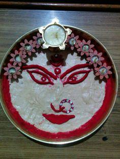 Gauri Decoration, Arti Thali Decoration, Indian Dresses, Diwali, Lighting, Cake, Desserts, Diy, Food
