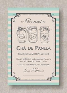 Convite Digital Chá Panela/Lingerie 11 Bullet Journal, Invitations, Illustration, Wedding Things, Vintage Invitations, Illustrations, Save The Date Invitations, Shower Invitation, Invitation