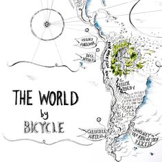 The World by Bicycle, Alex Hotchin Map Drawings Romania, Biking, Maps, Trail, How To Draw Hands, Bicycle, The Incredibles, Tours, This Or That Questions