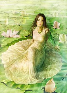 Annette Loginova art-Peinture sur soie