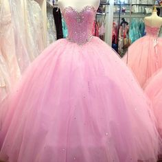 Sweetheart Beaded Quinceanera Dresses Tulle Puffy Prom Ball Formal Wedding Gowns for 15 16 Years