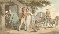 'The Recruit' English Dance of Death, Thomas Rowlandson, 1814 Dance Of Death, Flora And Fauna, Medieval, English, Painting, Art, Art Background, Painting Art, Kunst
