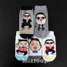 mizsoap-PSY-KPOP-Korean-super-star-character-socks-Gangnam-style-select-1pairs