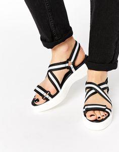 Monochrome hiker sandals, the ultimate summer shoe.