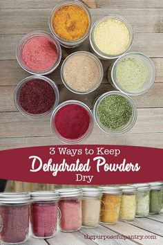 5 Ways to Keep Dehydrated Powders From Clumping Don't let your hard work go to waste! Learn three ways to keep your dehydrated powders dry and safe for food storage to enjoy year round! Dehydrated Vegetables, Dehydrated Food, Dehydrated Onions, Dried Vegetables, Homemade Spices, Homemade Seasonings, Canning Food Preservation, Preserving Food, Preserving Tomatoes