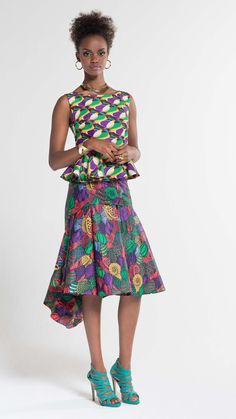 Vibrant on Duty Style | Vlisco V-Inspired ~African fashion, Ankara, kitenge, African women dresses, African prints, African men's fashion, Nigerian style, Ghanaian fashion ~DKK