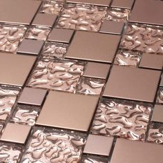 I'd love this for a kitchen back-splash... and its on sale now too!!! 11 pieces in a carton... just beautiful... I love copper!