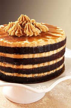 Espresso Chocolate Cake with Peanut Butter Frosting and a Rum Drizzle from Creative-Culinary...